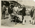 """Baseball Collectibles:Photos, 1927 Walter Johnson Service Photograph. The 8x10"""" image that we present here illustrates Walter Johnson being awarded to ho..."""