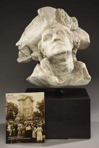 Working Model for the Head of George Washington for the Princeton Battle Monument Freder