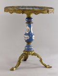 19th Century European:Romanticism, An Early 20th Century Louis XVth style Gilt Bronze and PorcelainPedestal Table. Unknown maker, French. Early 20th century...