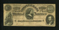 Confederate Notes:1864 Issues, T65 $100 1864. One small edge tear is noticed. Fine-Very Fine....