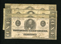 Confederate Notes:1863 Issues, T62 $1 1863 Four Examples Very Good or Better.. ... (Total: 4notes)