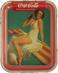 Advertising:Trays, 1939 Girl on Spring Board Coca-Cola Serving Tray ...
