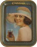 Advertising:Trays, 1921 The Summer Girl Coca-Cola Serving Tray....