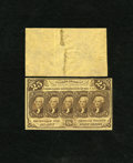 Fractional Currency:First Issue, Fr. 1282SP 25c First Issue Narrow Margin Face Specimen New, bottem edge tear penetrates the frame line. Fr. 1282SP 25c Fir... (Total: 2 notes)