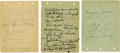 Autographs:Letters, 1930s-40s Baseball Stars Signed Album Pages Lot of 3. A total of 31 signatures from ballplayers who plied their trade in th...