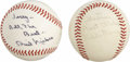 Autographs:Baseballs, Eddie Murray and Phil Niekro Single Signed Baseballs Lot of 2.Offered are two OAL (MacPhail) baseballs. The fist is a sin...