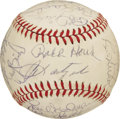 Autographs:Baseballs, 1983 Boston Red Sox Team Signed Baseball. A team filled with starsand future stars could only finish 6th in the division t...
