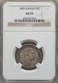 Coins of Hawaii , 1883 25C Hawaii Quarter AU55 NGC. NGC Census: (71/1025). PCGSPopulation (125/1344). Mintage: 242,600. ...