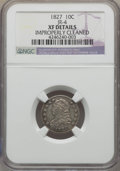 Bust Dimes, 1827 10C JR-4, R.2, -- Improperly Cleaned -- NGC Details. XF. NGCCensus: (1/3). PCGS Population (0/2). Mintage: 1,300,000....