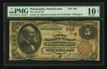 National Bank Notes:Pennsylvania, Philadelphia, PA - $5 1882 Brown Back Fr. 467 The Girard NB Ch. #(E)592. ...