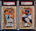 Baseball Cards:Lots, 1990 Perez-Steele Mickey Mantle & Willie Mays Signed PostcardsPair (2)....
