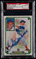 Baseball Cards:Singles (1970-Now), Signed 1984 Donruss Champions Ted Williams #14 PSA Authentic....