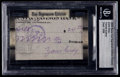 Non-Sport Cards:Singles (Post-1950), Signed 2008 Razor Cut Signature Edition Zane Grey. ...