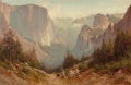 Paintings, Thomas Hill (American, 1829-1908). Yosemite. Oil on canvas. 30 x 45-1/2 inches (76.2 x 115.6 cm). Signed lower left: T...