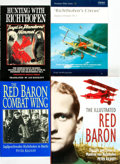 Books:Biography & Memoir, [Manfred von Richthofen (The Red Baron), subject] [Aviation, WorldWar I]. Group of Four Biographies. Various publishers and...(Total: 4 Items)