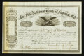 National Bank Notes:Maryland, Frederick, MD - 10 Shares Stock Certificate The First NB Ch. #1589. ...