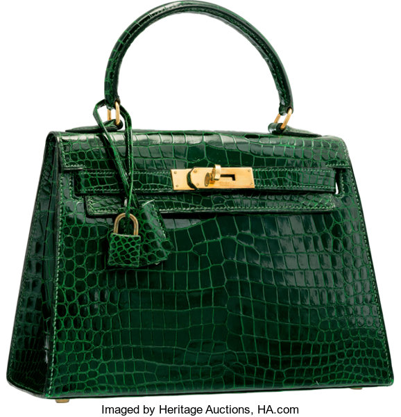 9e95179b229 ... Luxury Accessories Bags, Hermes 25cm Shiny Vert Emerald Crocodile  Sellier Kelly Bag withGold Hardware ...