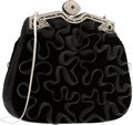 "Luxury Accessories:Bags, Judith Leiber Black Velvet & Mesh Evening Bag. ExcellentCondition. 8.5"" Width x 7"" Height x 1.5"" Depth. ..."