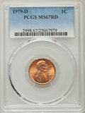 Lincoln Cents, 1979-D 1C MS67 Red PCGS. PCGS Population (20/0). Numismedia Wsl. Price for problem free NGC/PCGS coin i...