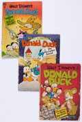Golden Age (1938-1955):Cartoon Character, Donald Duck Group of 13 (Dell, 1946-63) Condition: Average GD....(Total: 13 Comic Books)