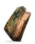 Lapidary Art:Carvings, Polished Labradorite Free Form. Madagascar. 4.76 x 2.95 x 2.05inches (12.08 x 7.50 x 5.21 cm). ...