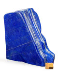Lapidary Art:Carvings, Lapis Free Form Sculpture. Afghanistan. 7.68 x 7.28 x 1.54inches (19.50 x 18.50 x 3.90 cm). ...
