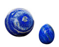 Lapidary Art:Eggs and Spheres, Lapis Sphere & Egg (Set of 2). Afghanistan. 3.42 inches indiameter (8.68 cm). ... (Total: 2 Items)