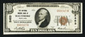 National Bank Notes:Maryland, Baltimore, MD - $10 1929 Ty. 1 The National Marine Bank Ch. # 2453....