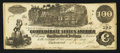 Confederate Notes:1862 Issues, T39 $100 1862 PF-5.. ...