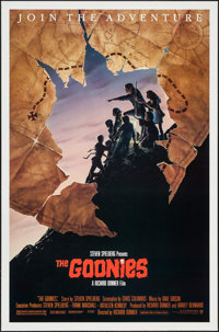 """The Goonies (Warner Brothers, 1985). One Sheet (27"""" X 41"""") Style B. Adventure"""