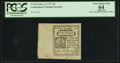 Colonial Notes:Connecticut, Uncancelled with Jumbo Margins Connecticut October 11, 1777 2d PCGSApparent Very Choice New 64.. ...