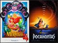 """Movie Posters:Animation, The Little Mermaid & Others Lot (Buena Vista, 1989). MiniPosters (4) (approx. 18.5"""" X 27"""") Advance. Animation.. ... (Total:4 Items)"""