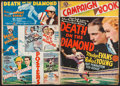 "Movie Posters:Sports, Death on the Diamond & Others Lot (MGM, 1934). Uncut Pressbooks (6) (Multiple Pages, 11"" X 15"", 11.25"" X 17.5"", 12"" X 18.25""... (Total: 6 Items)"