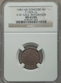 Civil War Merchants, Undated A.W. Gale, Restorator, Concord, NH, MS63 Brown NGC.Fuld-NH120A-1a. Single merchant state....
