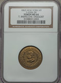 Civil War Merchants, 1863 T. Brimelow, Druggist, MS64 NGC, Fuld-NY630K-7b,Greenslet-710, misattributed by NGC as Fuld-NY630K-5b; 1863 ThomasW... (Total: 3 tokens)