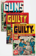 Golden Age (1938-1955):Crime, Justice Traps the Guilty Group of 14 (Prize, 1947-57) Condition: Average VG.... (Total: 14 Comic Books)