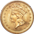 Gold Dollars, 1880 G$1 MS66 PCGS. CAC....