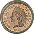 Patterns, 1858 P1C Indian Cent, Judd-208, Pollock-259, R.1, MS63 PCGS. CAC....