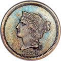 Patterns, 1854 P1C One Cent, Judd-160, Pollock-187, R.4 PR66 Brown NGC. CAC....