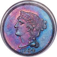 1854 P1C One Cent, Judd-161 Original, Pollock-187, R.4, PR65 Red and Brown NGC....(PCGS# 11664)