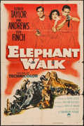 "Movie Posters:Adventure, Elephant Walk & Others Lot (Paramount, 1954). One Sheet (27"" X41""), Window Card (14"" X 22""), French Affiche (23"" X 31""), In...(Total: 4 Item)"