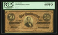 Confederate Notes:1864 Issues, Red Tint T66 $50 1864.. ...