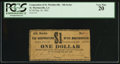 Obsoletes By State:Louisiana, St. Martinsville, LA - Corporation of St. Martinsville - 4th Series $1 May 30, 1862. ...