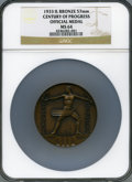 Expositions and Fairs, 1933 Century of Progress Official Medal MS64 NGC. Bronze, 57mm. Chicago, IL....