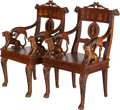 Asian:Other, A Pair of Colonial-Style Carved and Polychromed Wood FiguralArmchairs. 41-1/4 inches high x 24 inches wide x 19-3/4 inches ...(Total: 2 Items)