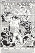 Original Comic Art:Splash Pages, Sal Buscema and Rick Parker The Spectacular Spider-Man #160Splash Page 1 Original Art (Marvel, 1990)....