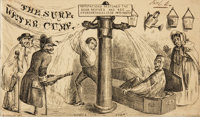 [Cartoons, Humor]. Author/Artist Unknown. The Sure Water Cure. [Philadelphia: Carey & Hart, n.d