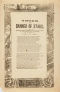 Books:Music & Sheet Music, [Music]. Nineteenth-Century Song Sheet Entitled, The Harp of OldErin and Banner of Stars. New York: H. De M...