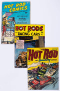 Golden Age (1938-1955):Miscellaneous, Comic Books - Assorted Golden and Silver Age Hot Rod Comics Group of 16 (Various Publishers, 1952-66) Condition: Average VG.... (Total: 16 Comic Books)
