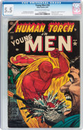 Golden Age (1938-1955):Superhero, Young Men #28 (Atlas, 1954) CGC FN- 5.5 Cream to off-white pages....